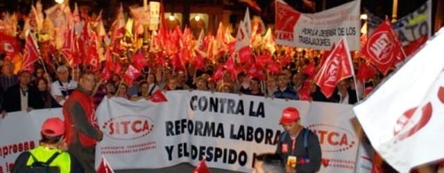 """SITCA: """"El Gobierno de Rajoy miente cada vez mas porque solo aumenta el contrato a tiempo parcial, una fuente de subempleo en España"""""""